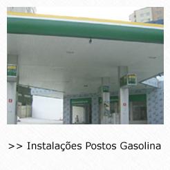 Colocação de Forro de PVC em Posto de Gasolina